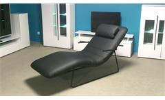 S Rolf Benz Freistil Longchair LC-AT 163 schwarz