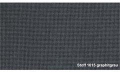 Sofa Rolf Benz Freistil 176 Sofabank Stoff graphitgrau 2 Kissen Breite 220 cm