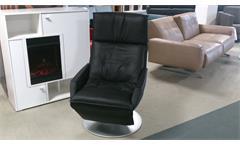 Liegesessel Rolf Benz L-SE-AT-577 Funktionssessel Echtleder schwarz