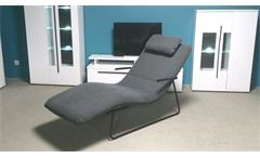 S Rolf Benz Freistil Longchair LC-AT 163 grau 1015