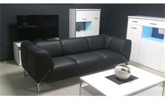 Sofa SOB 323 ROLF BENZ Sofabank Leder schwarz