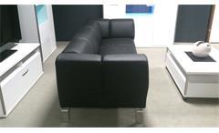 Sofa SOB 323 ROLF BENZ Sofabank Echtleder schwarz Breite 233 cm