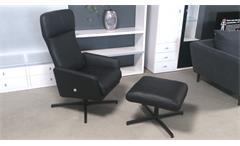 Relaxsessel Liegesessel Rolf Benz LSE 560 Echtleder schwarz