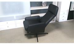 Liegesessel Rolf Benz LSE 560 Relaxsessel mit Funktion Echtleder schwarz