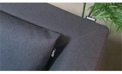 Ecksofa links Freistil 165 ROLF BENZ Lounge Garnitur Flachgewebe schwarzgrau
