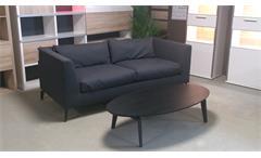 Sofa Freistil 165 ROLF BENZ Sofabank Flachgewebe schwarzgrau