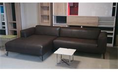 ROLF BENZ Freistil 186 Ecksofa links Echtleder braun