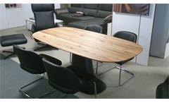 Esstisch ROLF BENZ 8950 Tischplatte Ulme massiv geölt