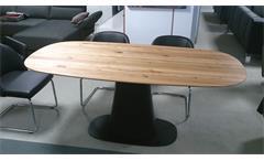 ROLF BENZ Esstisch 8950 Tischplatte Ulme massiv geölt Sockel schwarz
