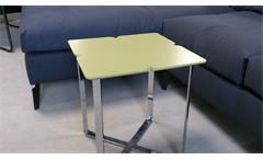 ROLF BENZ Beistelltisch Freistil 195 Design Kleeblatt 42x42 grauolive
