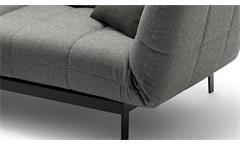 Sofa ROLF BENZ AGIO 342 Komfort- Relaxfunktion 2-Sitzer Stoff silbergrau