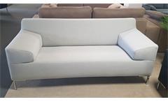 Sofa Rolf Benz Freistil 180 Couch lichtgrau Bezug Stoff Breite 180 cm