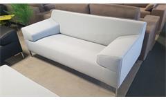 Sofa Rolf Benz Freistil 180 Couch lichtgrau Bezug Stoff Breite 200 cm