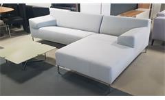 Ecksofa Rolf Benz Freistil 180 Sofa lichtgrau mit Ottomane rechts 260 cm