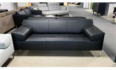 Sofa Rolf Benz Freistil 180 2-Sitzer Couch Polstersofa in Leder schwarz 200 cm