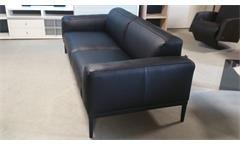 Sofa Leder schwarz 3-Sitzer 221 cm Freistil 167 von ROLF BENZ