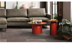 ROLF BENZ Couchtisch Stahlblech rot Ø 70 cm Design freistil 154