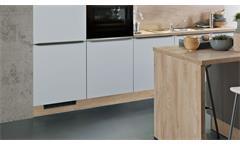 Küche Inselküche Einbauküche Küchenblock Ella grau seidenmatt grain hell 300 cm