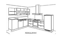 Küche Winkelküche L-Küche Einbauküche Ella weiß seidenmatt und cognac 305x245 cm