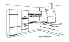 Küche Winkelküche L-Küche Einbauküche Ella silk matt und grain hell mit Geräten