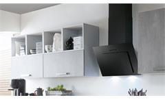 Küche Einbauküche Küchenzeile Celine Betonoptik und grau seidenmatt mit Geräten