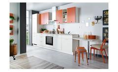 Küche CINDY Einbauküche silk coral seidenmatt mit E-Geräten