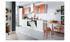 Küche Einbauküche Küchenzeile Cindy Küchenblock silk weiß coral matt mit Geräten