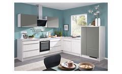 L-Küche GRETA Einbauküche skandi oak grau mit E-Geräten