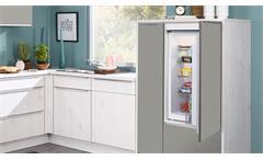 Küche Winkelküche L-Küche Greta skandinavisch Eiche und Titan grau mit Geräten