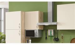 Küche Einbauküche Küchenzeile Carla Küchenblock magnolie Eiche sand mit Geräten