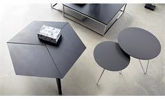 Couchtisch Molly 29 anthrazit grau rund Satztisch Beistelltisch 2er Set Tisch