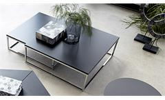 Couchtisch MOLLY 30 Tisch 2er Satztisch schwarz lackiert Metallgestell