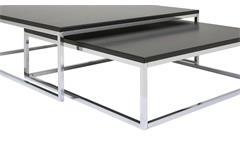 Couchtisch Molly 30 Tisch schwarz Metallgestell Satztisch Beistelltisch 2er Set