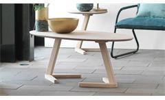 Couchtisch Ollie Tisch Beistelltisch Eiche natur massiv weiß geölt oval 120x60