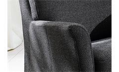 SESSEL MILA POLSTERSESSEL ARMLEHNSESSEL POLSTERMÖBEL IN DUNKELGRAU 73x70