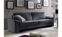 Sofa MOBILE 3-Sitzer Bezug Stoff dunkelgrau 222 cm