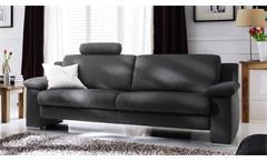 Sofa Choice 3-Sitzer in Stoff dunkelgrau inkl. Federkern Nosagfederung 222 cm