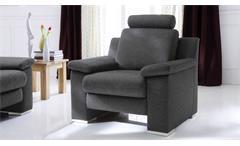Sessel Choice 1-Sitzer in Stoff dunkelgrau inkl. Federkern Nosagfederung 102 cm