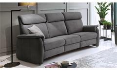 Sofa 3600 3-Sitzer Stoff grau mit Federkern und Nosagfederung 222 cm