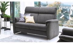 Sofa PRESTON 2-Sitzer in Stoff stone grau Federkern 156 cm