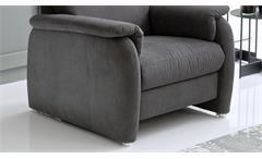 Sessel Preston Fernsehsessel Relaxsessel Loungesessel Stoff stone grau Federkern