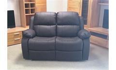 Sofa RAX 2 Sitzer Funktionssofa in braunem Lederlook