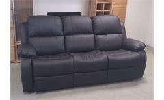 Sofa RAX 3-Sitzer Polstercouch in braun mit Relaxfunktion