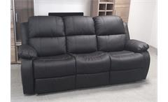 Sofa LAKOS 3-sitzer Polstermöbel in schwarz mit Funktion
