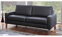 Sofa INTERMEZZO 2-Sitzer in schwarz Federkern und Chromfüße 164 cm