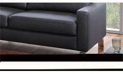 Sofagarnitur Intermezzo 3-2 Polstermöbel in schwarz mit Federkern und Chromfüßen