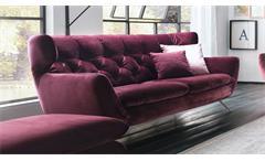 Sofa SIXTY 2,5-Sitzer Bezug Velour Stoff purple Gestell Chrom 200 cm
