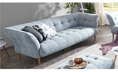 Sofa BIG APPLE 3-Sitzer Stoff light blue Gestell Buche natur 240 cm