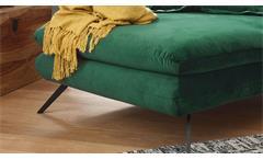 Longseat Sixty Chaiselongue Sofa Relaxliege Stoff Velour smaragd grün 126x160 cm