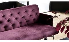 Bank Sixty Polsterbank Sitzbank Esszimmerbank in Stoff Velour purple lila 206 cm